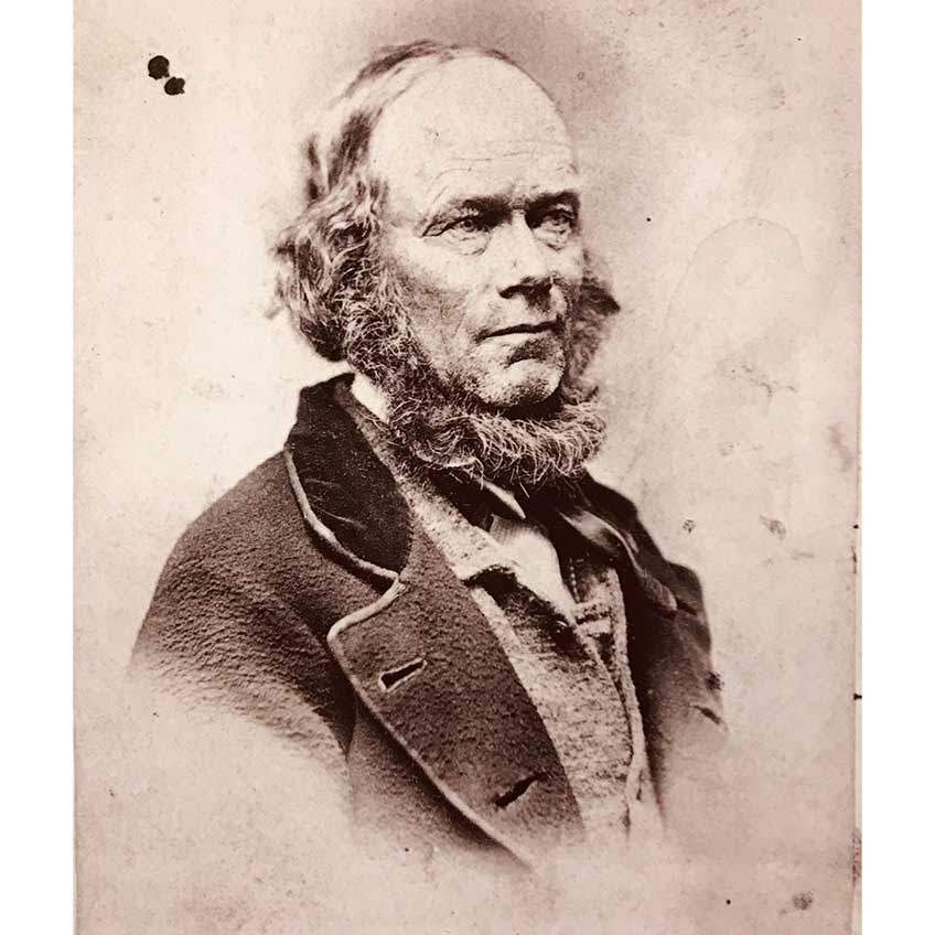 Jonathan Browning, an early convert to the Church of Jesus Christ of Latter-Day Saints, was a gunsmith, businessman and father of the famous inventor. Image courtesy of Museums at Union Station