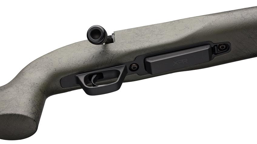 rifle underside green stock black parts magazine trigger bolt
