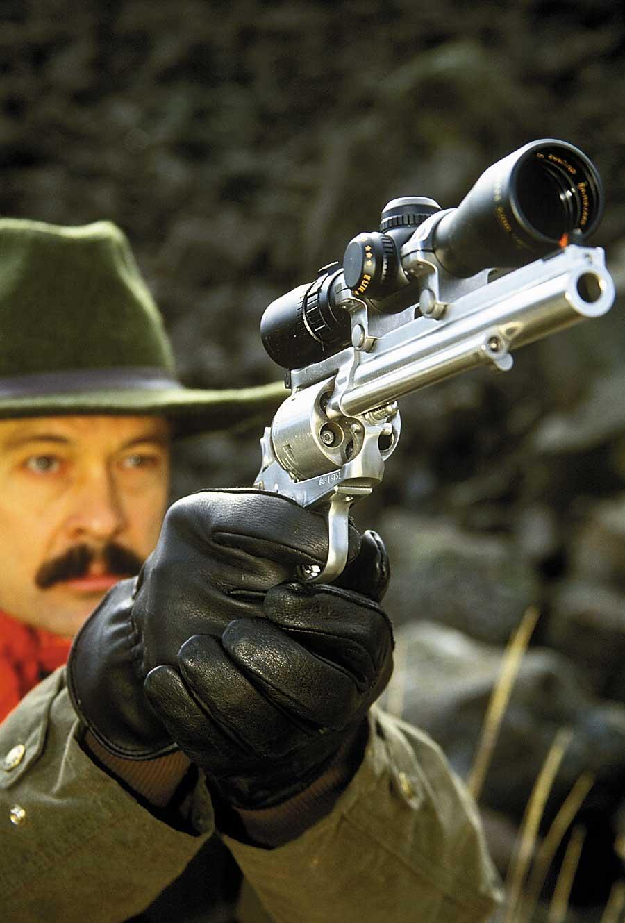 hunter outdoors handgun revolver silver