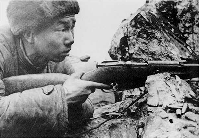 Chinese People's Army sniper Zang Taofang