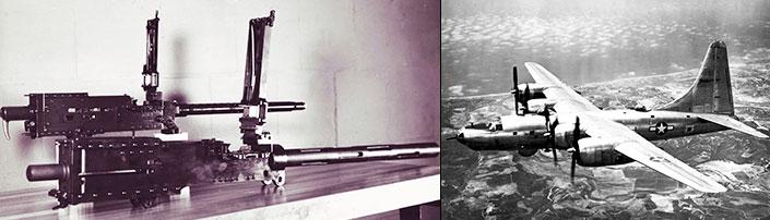 AN/M2 .30-cal. and .50-cal. machine guns, B-32s