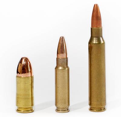 9 mm Luger, 5.7x28 mm FN, 5.56 NATO