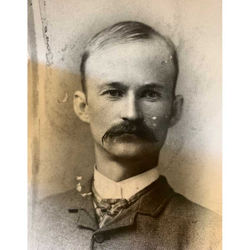 John Moses Browning circa 1890, as he neared the height of his creative powers. Courtesy of Weber State University, Stewart Library, Special Collections