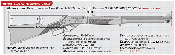 henry side gate lever action specs