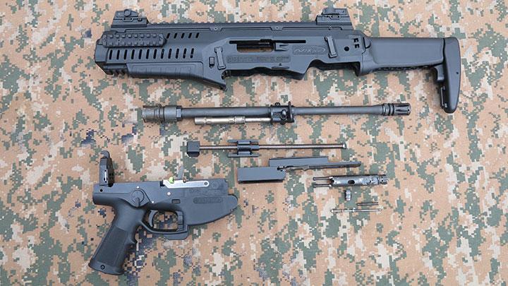 The Beretta ARX 100 disassembled.
