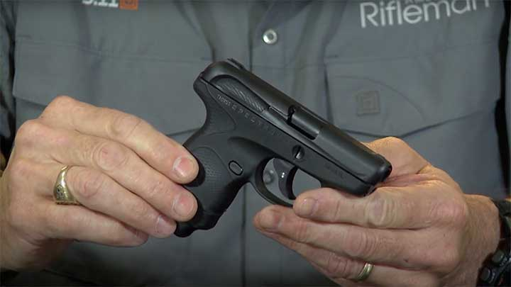 The sub-compact Taurus Spectrum size demonstration.