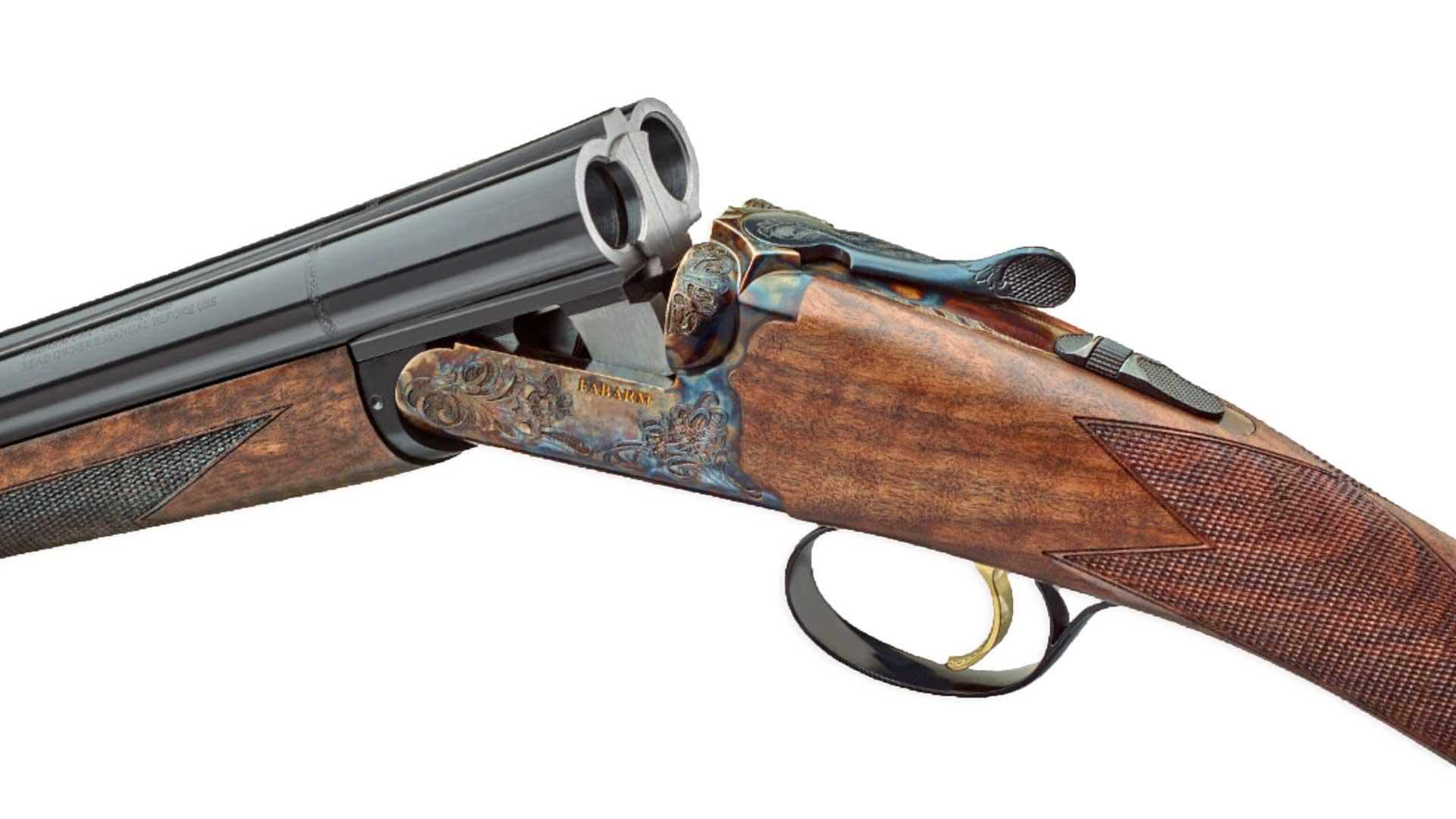 shotgun receiver side-by-side gun barrel metal wood